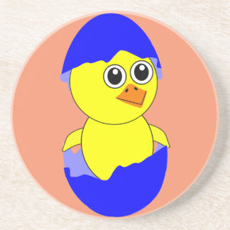 Baby Chick Maternity Baby Boy Blue Drink Coaster