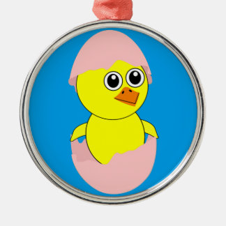 Baby Chick Maternity Pink For Girls Metal Ornament