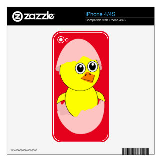 Baby Chick Maternity Pink For Girls Skin For iPhone 4