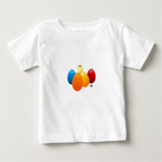 Baby chick on eggs baby T-Shirt