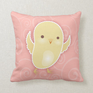 Baby Chick on Pink - Throw Pillow