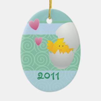 Baby Chick/ Photo Ceramic Ornament