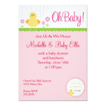 "Baby Chick Shower Invitation 5"" X 7"" Invitation Card"