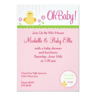Baby Chick Shower Invitation