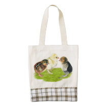 Baby Chick Trio Zazzle HEART Tote Bag