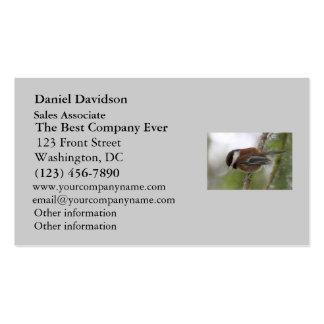 Baby Chickadee Photo Business Card