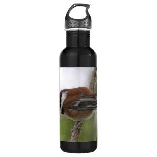 Baby Chickadee Photo Water Bottle