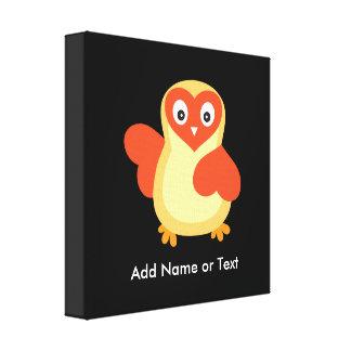 Baby Chicken - Cute Cartoon with Custom Text Canvas Print
