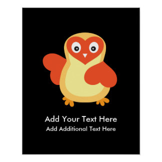 Baby Chicken - Cute Cartoon with Custom Text Poster