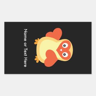 Baby Chicken - Cute Cartoon with Custom Text Rectangular Sticker