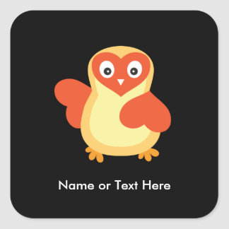 Baby Chicken - Cute Cartoon with Custom Text Square Sticker