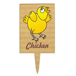 Baby chicken fun cartoon cake topper