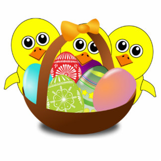 Baby Chicks and Easter Eggs Statuette