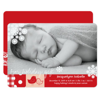 Baby Chicks First Christmas Holiday Photo Card