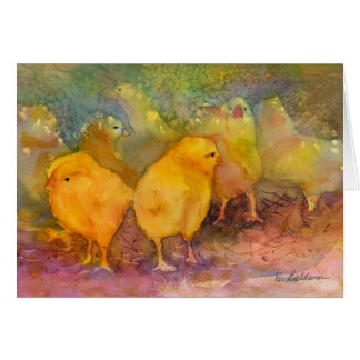 Baby Chicks notecard