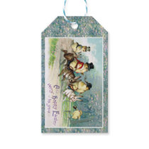 Baby Chicks on an English Hunt on Easter Morn' Gift Tags