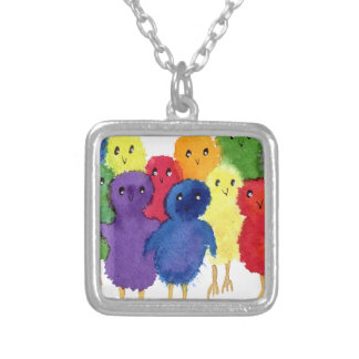 Baby Chicks Silver Plated Necklace