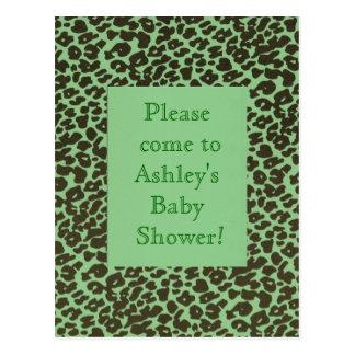 Baby Child or Teen Fun Jungle Jaguar Birthday Show Postcard