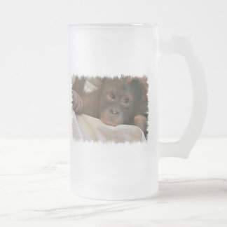 Baby Chimp Frosted Beer Mug