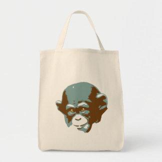Baby Chimp Head Tote Bag