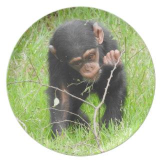 Baby Chimp Melamine Plate