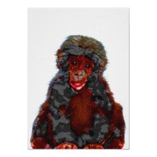 Baby Chimp Nursery Print on 5x7 Cardstock Card