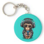 chimp, chimpanzee, chimp wearing headphones,