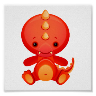 Baby Chinese Dragon Poster