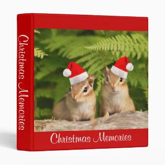 Baby Chipmunk Christmas Memories Vinyl Binder