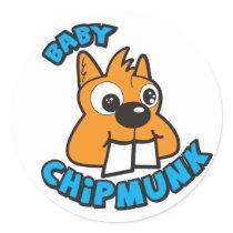 Baby Chipmunk Classic Logo Sticker