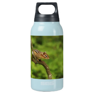 Baby Chipmunk in a Tree Insulated Water Bottle
