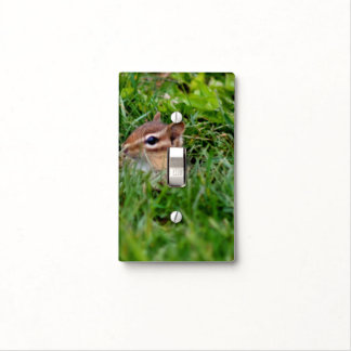 Baby Chipmunk Peeking Animal Light Switch Cover