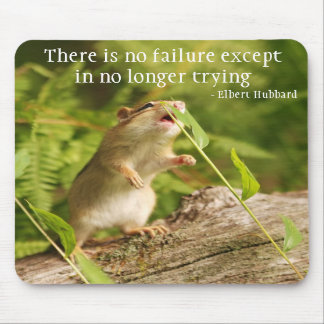 Baby Chipmunk Try Quote Mousepad