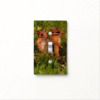 Baby Chipmunks Animal Art Light Switch Cover
