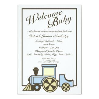 Baby Choo Choo Train Open House Card