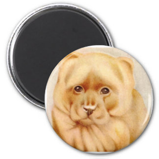 Baby Chow-Chow - SUPER CUTE ! 2 Inch Round Magnet