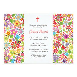 """Baby Christening Baptism Personalized Announcement 5"""" X 7"""" Invitation Card"""