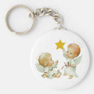 Baby Christmas Angels Keychain