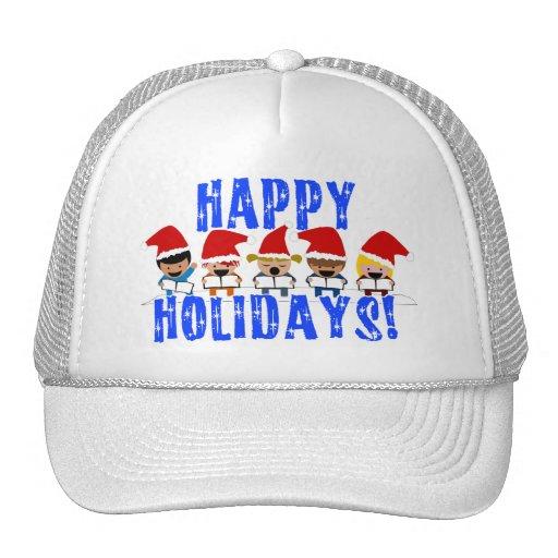 Baby Christmas Carolers - Happy Holidays Trucker Hat