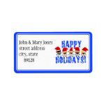 Baby Christmas Carolers - Happy Holidays Address Label