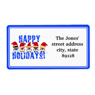 Baby Christmas Carolers - Happy Holidays Shipping Label
