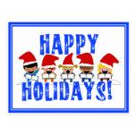 Baby Christmas Carolers - Happy Holidays Postcard
