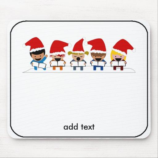 Baby Christmas Carolers Mouse Pad