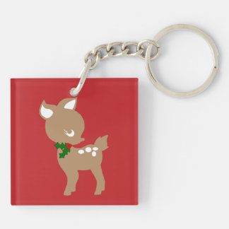 Baby Christmas Deer Holiday Key Chain