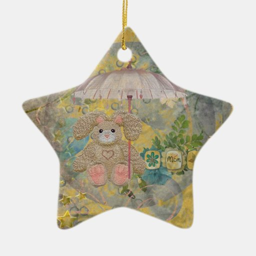 Baby Christmas or  Shower Gift - Star Ornament