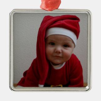 Baby Christmas Santa Ornament