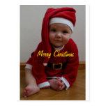 Baby Christmas Santa Postcard