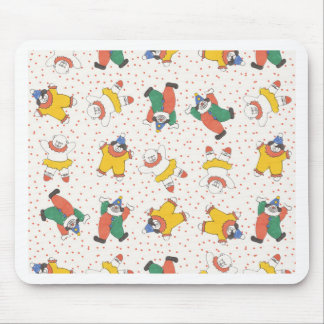 Baby Circus Animals Illustration Pattern Mouse Pad