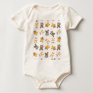Baby Circus Animals Illustration Pattern Rompers