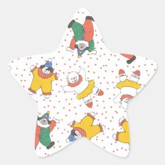 Baby Circus Animals Illustration Pattern Star Stickers
